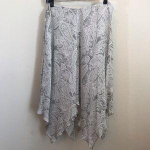 Jones New York Silk Handkerchief Skirt Beaded 12